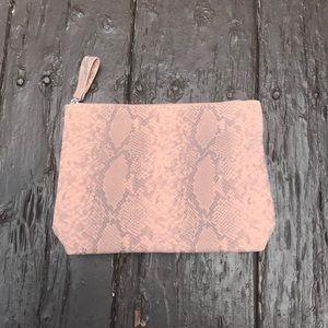 Snake Print Makeup Bag